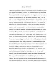 essay best experience was so happy suddenly that sad face  2 pages essay my school
