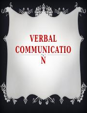 VERBAL-COMMUNICATION
