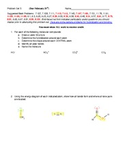 Test E on Chemistry and Problem Solving Fundamentals
