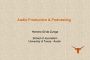 J321 C Class Presentation 6_Audio Production