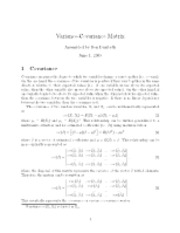 Variance-covariance matrix