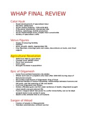 WHAP FINAL REVIEW (Autosaved)