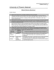 ethical dilemma worksheet week 4 2 ○ ethical dilemmas: answer sheet  it is the responsibility of the  finance director to distribute papers at least two weeks prior to the  page 4.