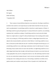opening exercise essay