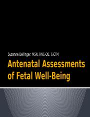 Antenatal Assessments of Fetal Well-Being.pptx