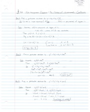 Notes on Method of Undeterminded Coefficient