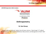 Lecture 10 - Anthropometry