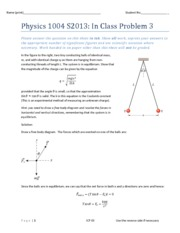 Physics 1004 S2013 In Class Problem 3 Solutions