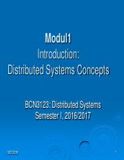 Modul 2 -  Distributed Systems Overview