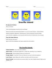 Snurfle Islands WS biomanbio.docx - Name Date Snurfle ...