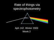 Rate of things - spectroscopy POST