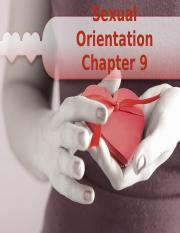 SEXUAL ORIENTATION CHAPTER 9 POWER POINT.ppt