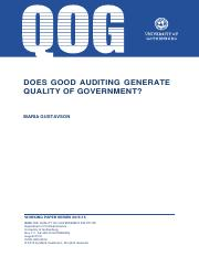 does good auditing generate quality of government_gustavson.pdf