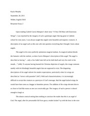 Response Essay To Charlotte Perkins The Yellow Wallpaper Kayla Pages  Response Essay To A Very Old