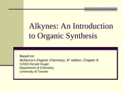 Chapter08- Alkynes- An Introduction to Organic Synthesis