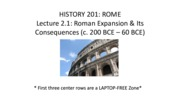 201 lecture 02a Roman expansion