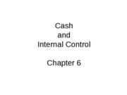 Mgmt 200 Fall 2009 Chap 6 Cash and Internal Control