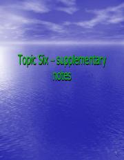 Topic Six  supplementary notes.pdf