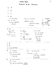 Answers HW-4  MATH2300-18Spring2011