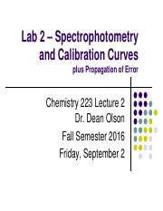 spectrophotometry lab