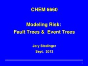 Event Trees-Risk Profile-Chem6660