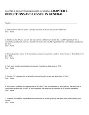 CHAPTER 6--DEDUCTIONS AND L