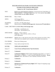 Syllabus Bus. Law 301 Spring 2012