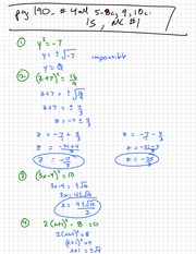 Solving Quadratic Notes