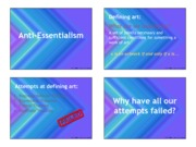 Class Notes- anti-essentialism