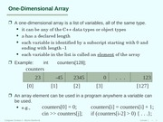 Lecture071 one D array