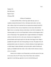WRITING1 - Essay #1