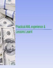 AMLLessons