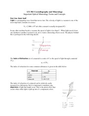 Crystallography and Mineralogy Notes 7