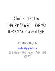 Class 10 - Charter of Rights -Nov 23 2016.ppt