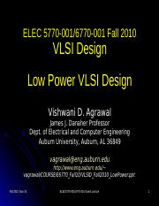 VLSID_Fall10_LowPower