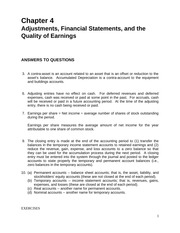 ACCT240_Adjustments, Financial Statements, and the Quality of Earnings