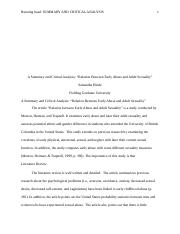 Article critique Relation Between Early Abuse and Adult Sexuality.docx