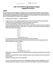 Lab 4 - Repitition Structures