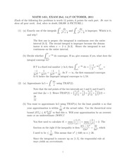 MATH 1451 Fall 2011 Midterm 2 Version 2 Solutions