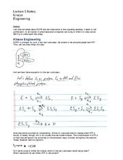 Lecture 5 Notes Kinase Engineering
