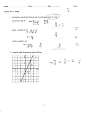 slope and domain quiz