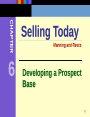 Chapter 6 Developing a Prospect Base.ppt