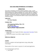 ECE 4553 Multifarious Systems II