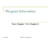 Chapter8 Subroutines