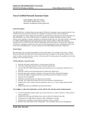 CCNA Course Outline - New.doc