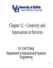 Chapter 12 - Innovations in Services - cronk edit.ppt
