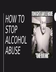How to stop alcohol abuse