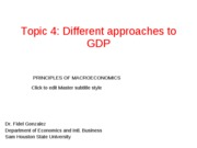 GDP approaches