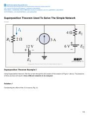 electrical-engineering-portal.com-Superposition Theorem Used To Solve The Simple Network