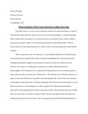 Historical Analysis Paper